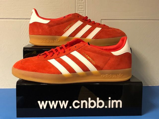 adidas Gazelle Custom Liverpool Trainers Size 10