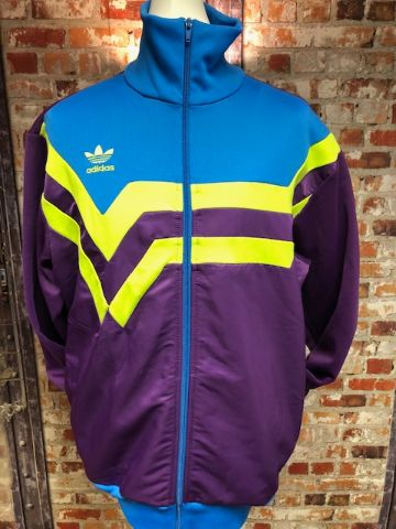 adidas 2006 Chevron Style Track Jacket Purple SIze XL