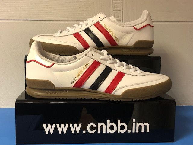 adidas Jeans Custom Manchester United Trainers Brand New Size 9
