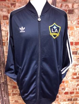 adidas LA Galaxy Baseball Style Track Jacket Navy Size XL