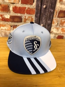 adidas Kansas City Retro Official MLS Adjustable Cap Sky Blue and Navy