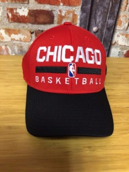 adidas Chicago Bulls Official NBA Snap Back Cap Red and Black