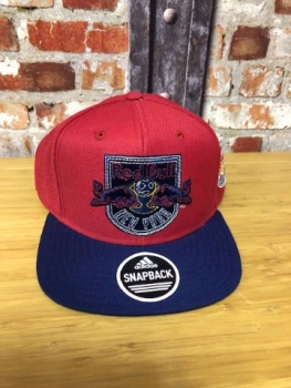 adidas New York Redbulls Retro Snap Back Official MLS Adjustable Cap red and Navy