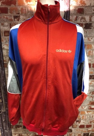 adidas Ventex early 80's Track Jacket Red, Blue , White and Grey Size Large