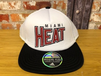 adidas Miami Heat  Official NBA Retro White & Black