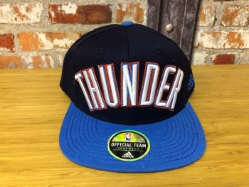 adidas Oklahoma Thunder  Official NBA Retro Cap Black and Blue