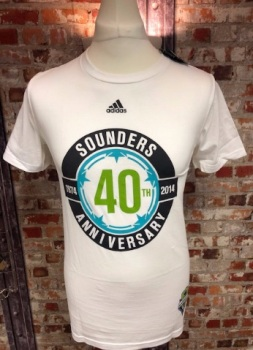 adidas Seattle Sounders  Official MLS Retro T-Shirt White Size Small
