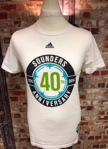 adidas Seattle Sounders  Official MLS Retro T-Shirt White Size S