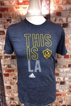 adidas LA Galaxy  Official MLS Retro T-Shirt grey Size Small