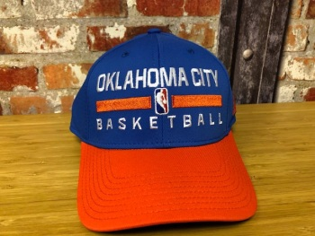 adidas Oklahoma City  Official NBA Retro Cap Blue and Orange