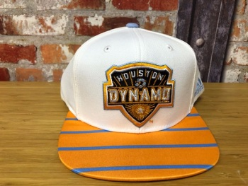 adidas Houston Dynamos Official MLS  Retro Cap White, Blue and Orange
