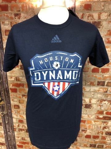 adidas Houston Dynamos MLS Retro T-Shirt Navy Size Small