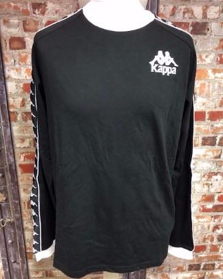 Kappa Juventus Inspired Long Sleeve T-Shirt Black Size XL