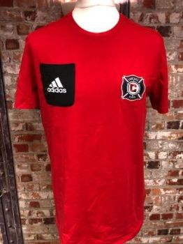 adidas Chicago Fire Casual Pocket T-Shirt Size Large