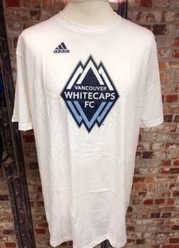 adidas Vancouver Whitecaps MLS Retro T-Shirt White Size Extra Large
