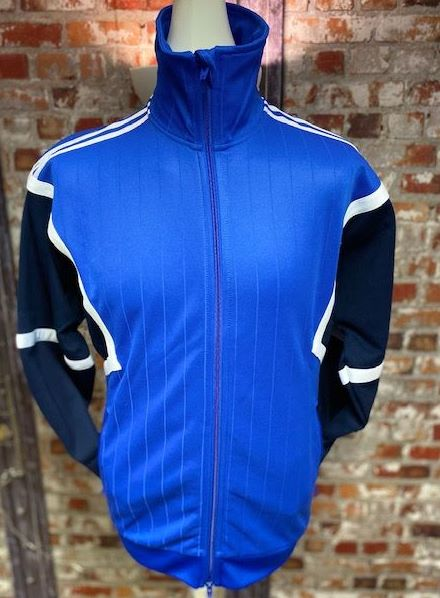 adidas Originals Retro Training Jacket Blue & Black Size Small