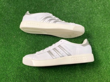 adidas Forest Hills White & Silver Special Trainers Size 8
