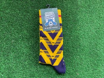 Retro Arsenal Brusied Banana Themed Crew Socks