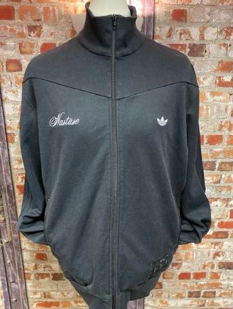 adidas Nastase Vintage Blackout Track Jacket Size XL