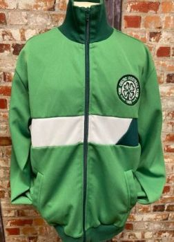 Celtic Scoredraw Retro Track Jacket Green and White Size Small