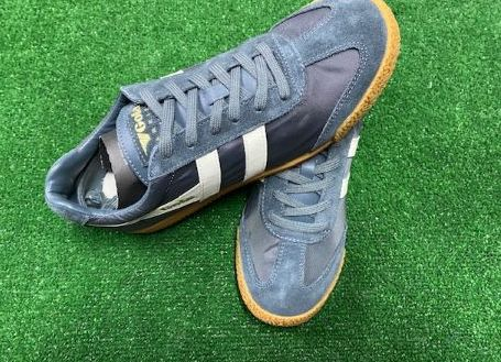 Gola Harrier Nylon Classic Trainers Blue and White Size 7