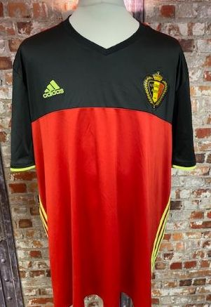 Belgium 2016 adidas Home Shirt Red Size XXXL