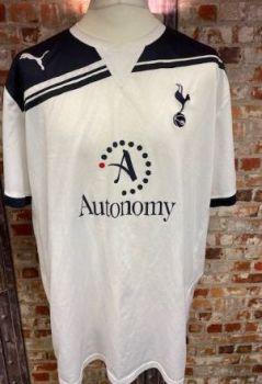 2010/11 Totenham Hotspur Puma Home Shirt White and Navy Size XXXL