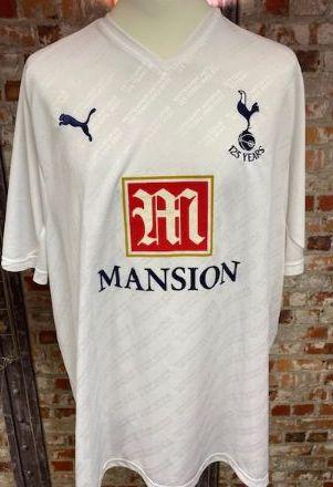 2010/11 Totenham Hotspur Home Shirt White and Navy Size XXXL