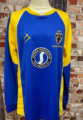 2008/09 AFC Wimbledon Long Sleeve Home Shirt SIze XS Mens