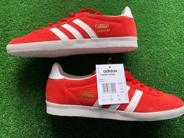 adidas Gazelle OG Custom Liverpool x Klopp Trainers Size 9