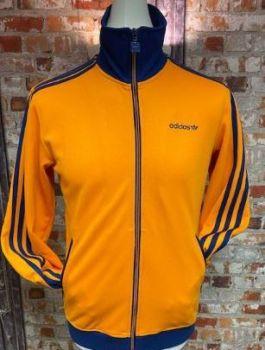 adidas Originals 2010 Track Jacket Orange & Navy Size Small