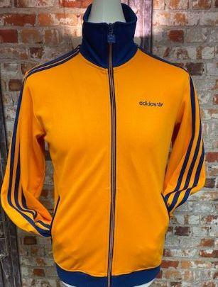 adidas Originals 2010 Track Jacket Orange & Navy Size Medium