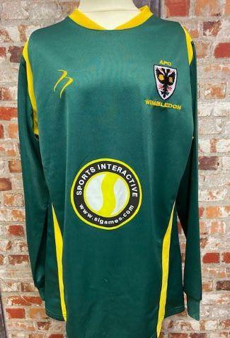 2008/09 AFC Wimbledon Long Sleeve Goalkeeper  Shirt SIze XS Mens