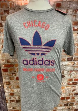 adidas Originals Chicago Fire MLS Retro T-Shirt Grey Size Medium