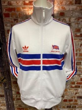 adidas Great Britain 1982 Olympic Tribute Track Jacket Size Medium