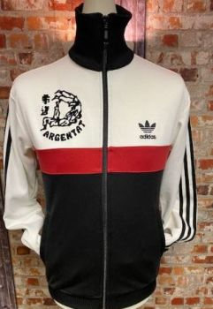 adidas Argentat Judo Track Jacket White Black and Red Size Small
