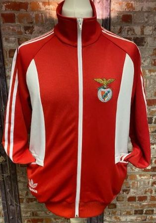adidas Originals Benfica Track Jacket Red and White Size Large