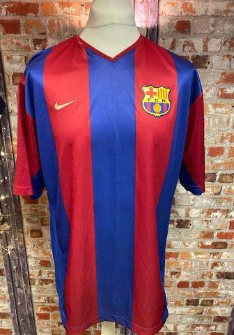 Vintage Nike Barcelona 2006/07 Home Shirt Size XL