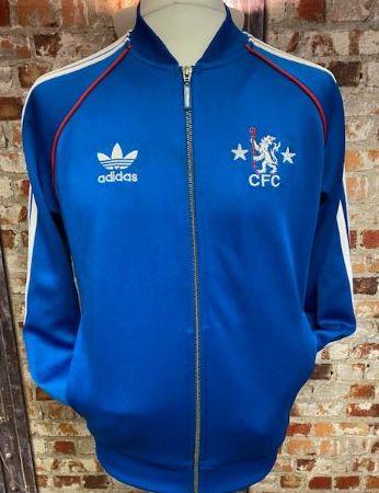 adidas Originals Chelsea 2015 Retro Track Jacket Blue Size Medium