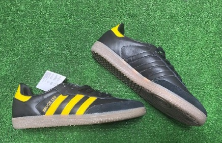 adidas Samba OG Custom Bruce Lee Trainers Black & Yellow Size 9