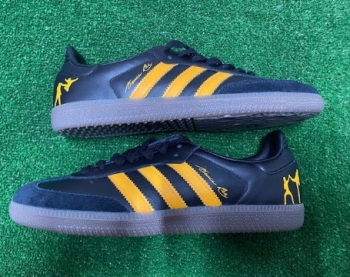 adidas Samba OG Custom Bruce Lee V.2  Trainers Black & Yellow Size 8