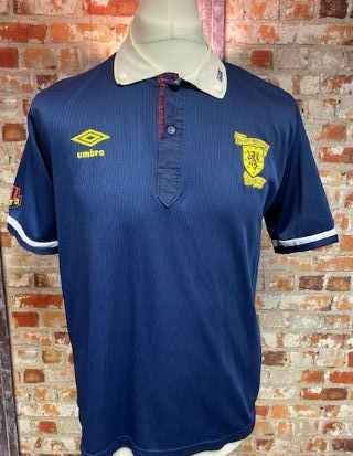 1990/92 Umbro Scotland Home Shirt Size 38/40''
