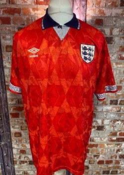 1990/92 Umbro England Away Shirt Size Large Mens