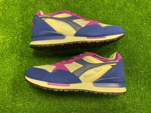 Diadora Retro Heritage Intepret Retro Trainers White and Purple Size 7