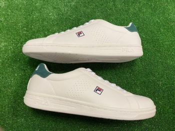 FILA Cross-court Heritage Retro Trainers White and Green Size 10