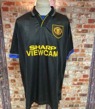 Manchester United  Scoredraw Retro 1994 Away Shirt Black  SIze Extra Large