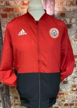 adidas Sheffield United 2019 Training Jacket Red and Navy Size Medium