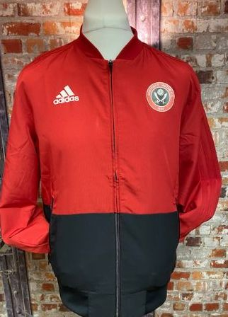 adidas Sheffield United 2019 Training Jacket Red and Navy Size Medium