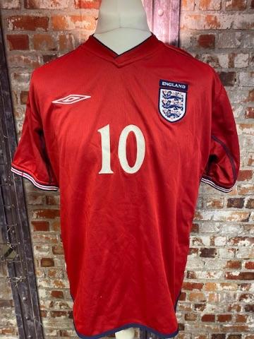 2002/04 Umbro England Reversable  Away Shirt Owen Size Large