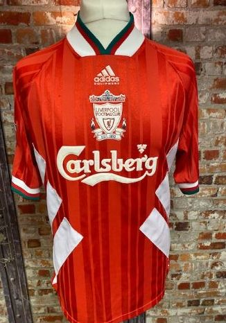 1993/94 Liverpool adidas Home  Shirt Red and White (RUDDOCK) Size Large